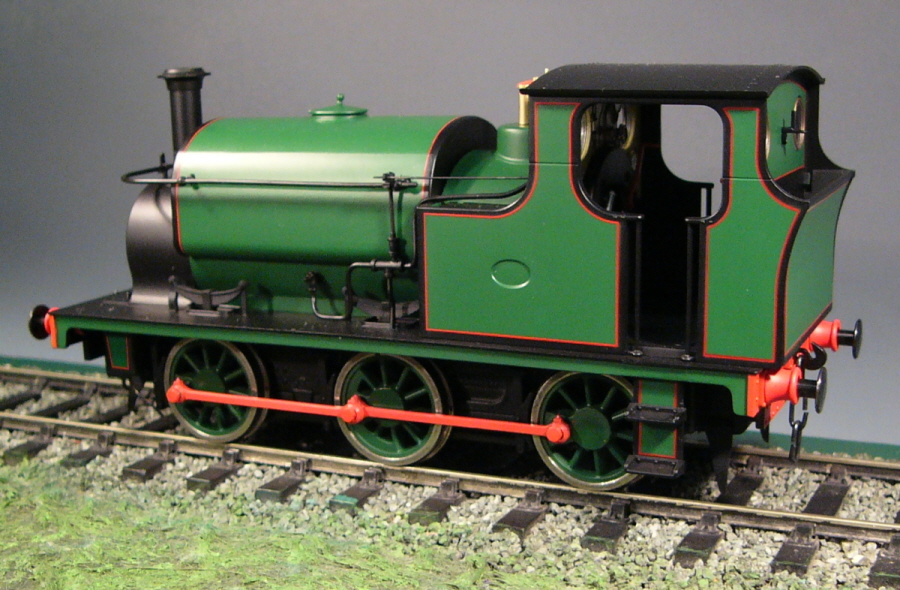 7mm Scale/0 Gauge Hudswell Clarke 0-6-0ST by Ixion Forest Green