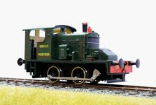 7mm Scale/0 Gauge Fowler 0-4-0 Diesel GWR No.1 by Ixion