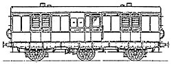 4C28 LSWR 30ft 6wheeled Full Brake (Arc Roof)