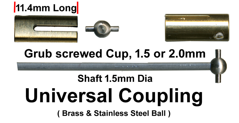 7MA075 Universal Joint Set for 1.5mm Shaft (4MA075)