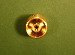 FW12-10-01 Brass Flywheel 12mm Dia x 10mm - 1.5mm Shaft