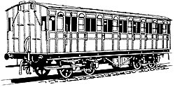 4C121 Metropolitan Railway 7 COMPARTMENT BRAKE THIRD