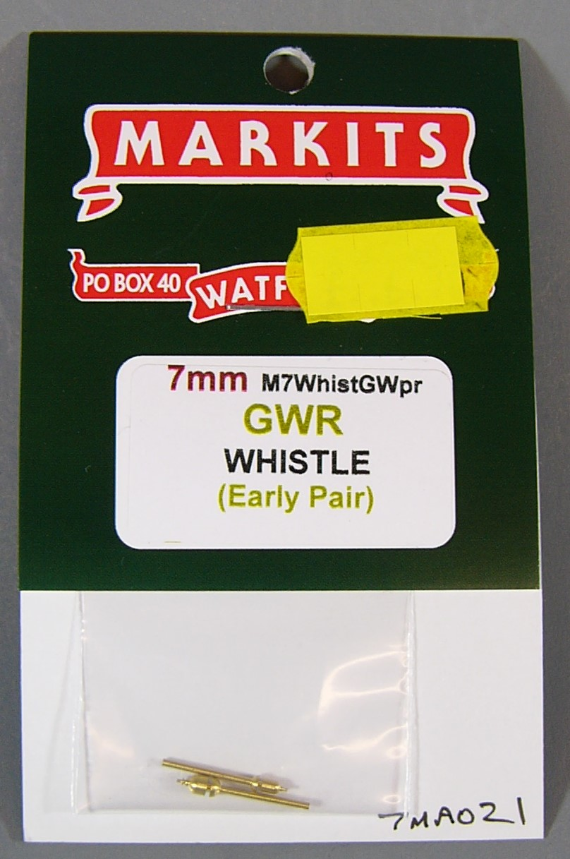 7MA021 GWR Early Whistles 7mm scale (1 Pair)