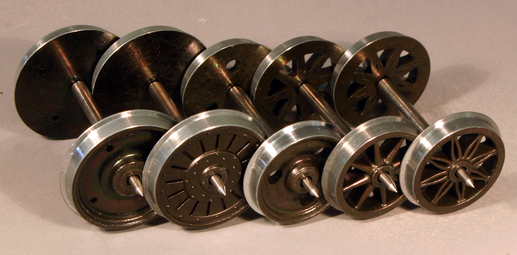 7mm SCALE / 0 GAUGE WHEELS by MARKITS