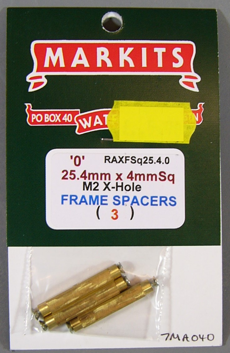 7MA040 25.4mm (1 Inch) Square Frame Spacers (3)